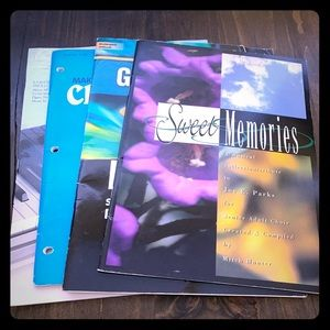4 piece bundle piano book sheet music paperback